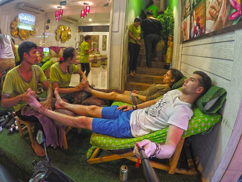 Khao San road beer and massage