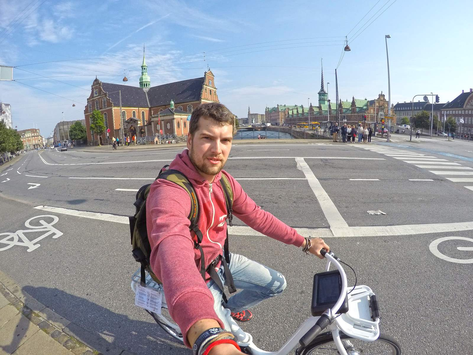 Riding an electric bike in Copenhagen