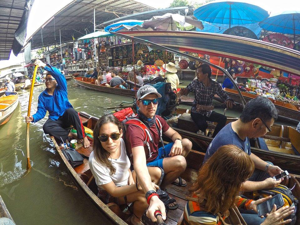 Damnoen Saduak floating market Bangkok boat