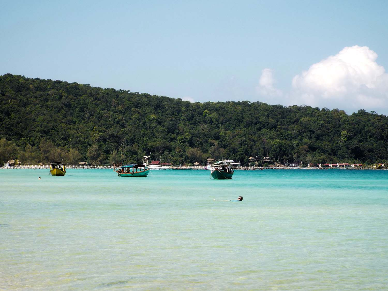 Koh Rong Samloem boats