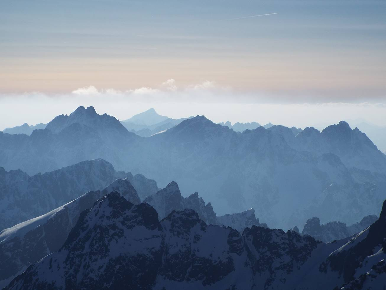inversion under the High Tatras peaks