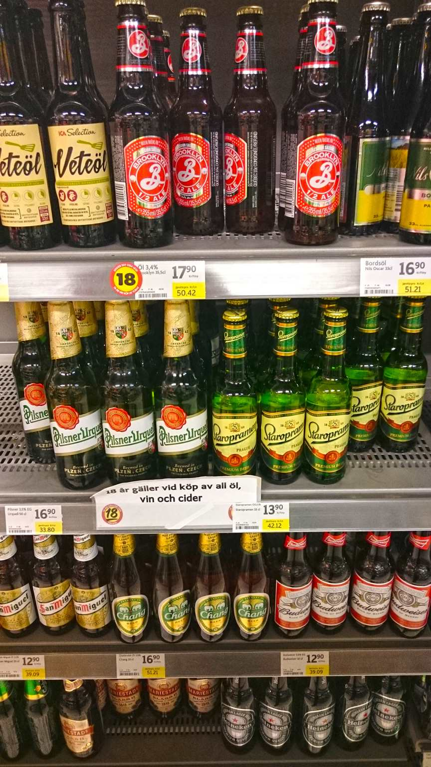 Pilsner beer in Sweden only 3,5%