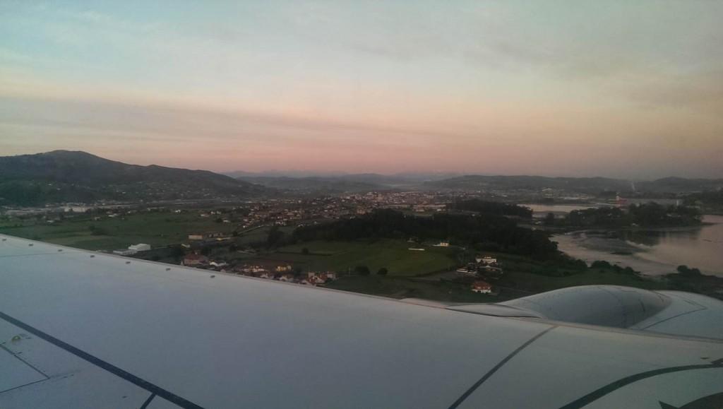 Landing in Santander