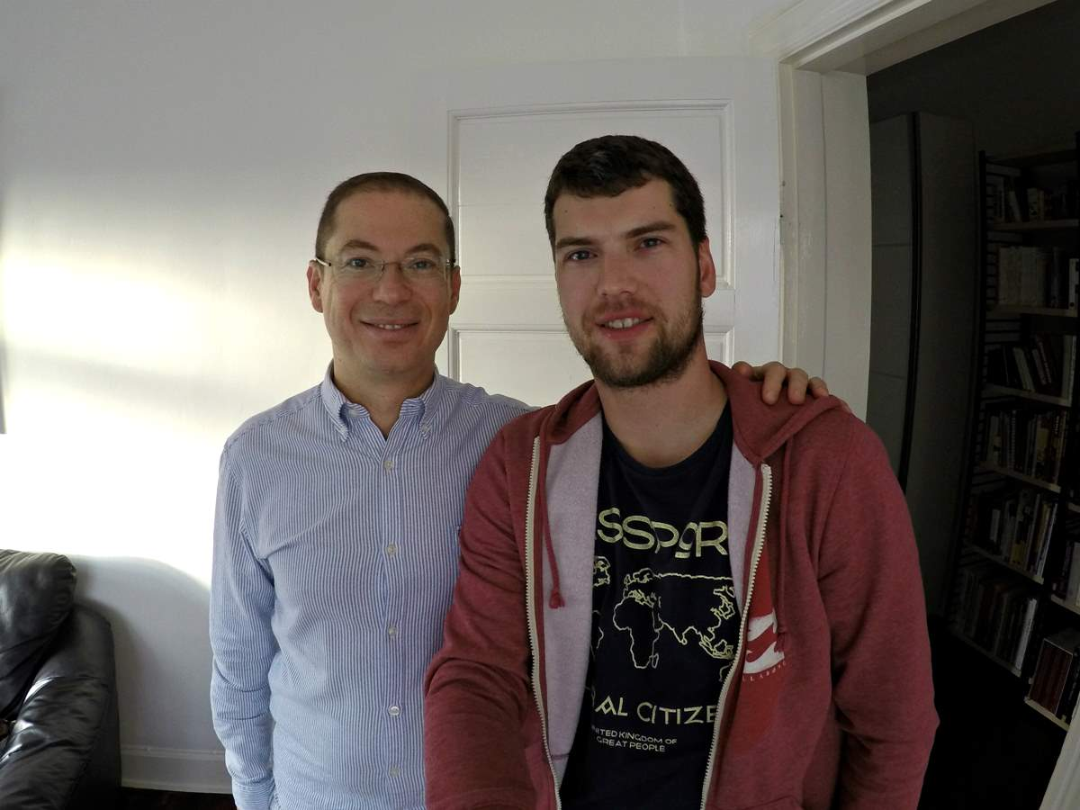 Yair and me in his flat in Copenhagen